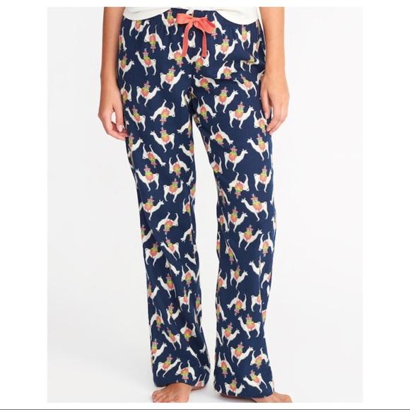 New Old Navy Women s Flannel llama Pajama Pants S dfbb39b79